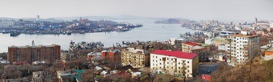 Panorama of Vladivostok, Russia Stock Photo
