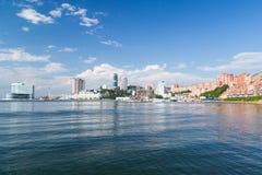 Panorama of Vladivostok, Russia. Panorama of Vladivostok and sea, Russia Royalty Free Stock Photography