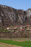 Panorama of Vlasi Village and rock formation Royalty Free Stock Photos