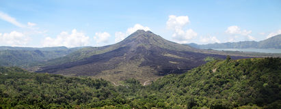 Panorama of volcano Batur Stock Images