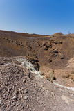Panorama of volcano in Nea Kameni island near Santorini, Greece Stock Image