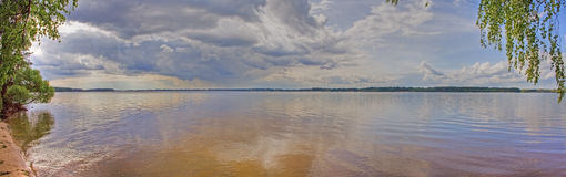 Panorama Of Volga Royalty Free Stock Photo