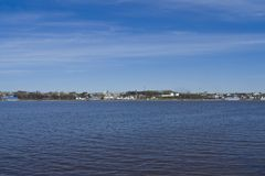 Panorama of the Volga River Royalty Free Stock Image