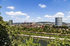 Panorama of Volklingen Ironworks in Saar Stock Photo