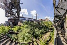 Panorama of Volklingen Ironworks in Saar Royalty Free Stock Photos