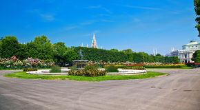 Panorama of Volksgarten, Austria Royalty Free Stock Image