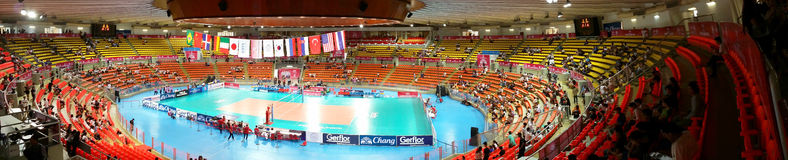 Panorama of Volleyball WGP Stock Photography