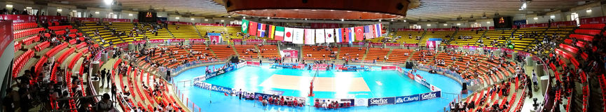 Panorama of Volleyball WGP Stock Images