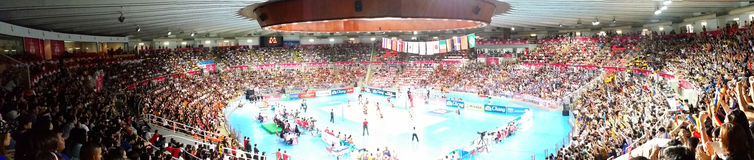 Panorama of Volleyball WGP Royalty Free Stock Photo