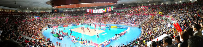 Panorama of Volleyball WGP Royalty Free Stock Photography