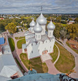 Panorama Vologda and Saint Sofia Cathedral from the bell tower Stock Images
