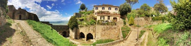 Panorama Volterra Stock Afbeeldingen