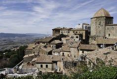 Panorama Volterra e Toscana Fotografie Stock