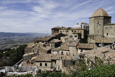 Panorama Volterra  and Tuscany Stock Photos