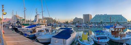 Panorama vom des Elats Hafen Lizenzfreie Stockfotos