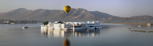 Panorama vom Palast Jal Mahal Water Palace, Jaipur, Indien lizenzfreies stockfoto