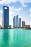 Panorama von Abu Dhabi, UAE Stockfotos