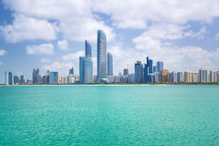 Panorama von Abu Dhabi, UAE Lizenzfreies Stockfoto