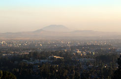 Panorama von Addis Ababa Stockfotos