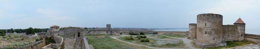 Panorama von Akkerman-Festung, Ukraine Lizenzfreie Stockbilder