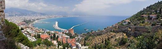 Panorama von Alanya lizenzfreie stockbilder