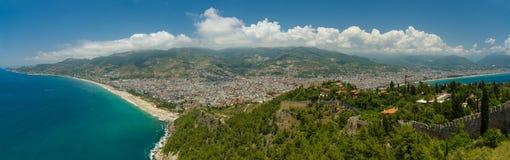 Panorama von Alanya Die Türkei Lizenzfreies Stockfoto