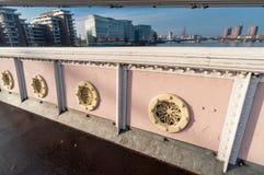 Panorama von Albert Bridge über der Themse Stockfotografie
