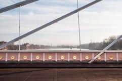 Panorama von Albert Bridge über der Themse Stockfotos
