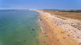 Panorama von Albufeira-Antenne in Algarve-Region, Portugal, Europa, Sturm Lizenzfreie Stockfotos
