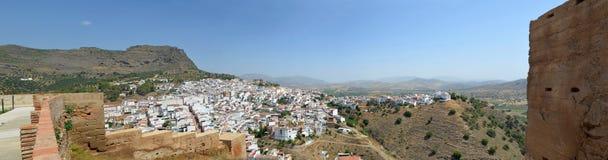 Panorama von Alora Andalusien Spanien Lizenzfreie Stockfotos
