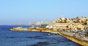 Panorama von altem Jaffa lizenzfreie stockfotografie
