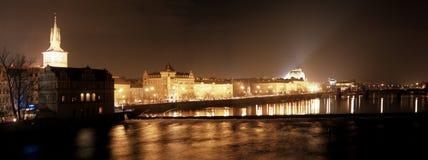 Panorama von altem Prag Lizenzfreies Stockfoto