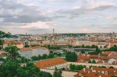 Panorama von altem Prag Stockfotografie