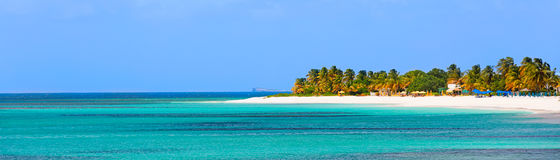 Panorama von Anguilla-Insel stockbild
