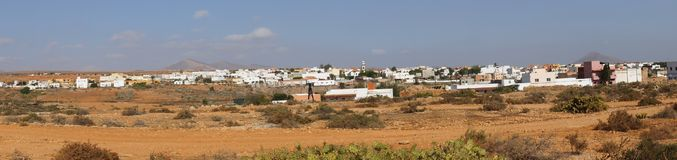 Panorama von Antigua Stockfoto