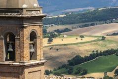 Panorama von Arcevia Stockfotografie