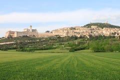 Panorama von Assisi Stockbild