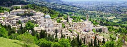 Panorama von Assisi, Umbrien, Italien stockbilder