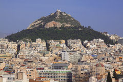 Panorama von Athen Stockbild