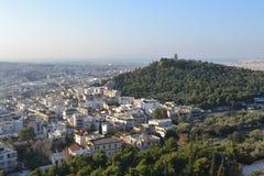 Panorama von Athen Stockfotos