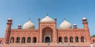 Panorama von Badshahi-Moschee Stockfotos