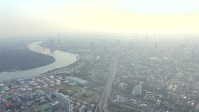 Panorama von Bangkok stock video