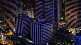 Panorama von Bangkok nachts stock video footage