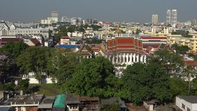 Panorama von Bangkok, sonniger Tag thailand stock video