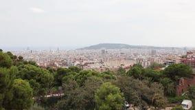 Panorama von Barcelona stock video footage