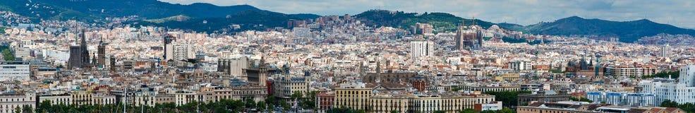 Panorama von Barcelona Lizenzfreies Stockbild