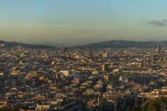 Panorama von Barcelona Lizenzfreie Stockfotos