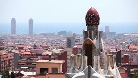 Panorama von Barcelona, Katalonien, Spanien stock footage