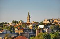 Panorama von Belgrad lizenzfreie stockfotos