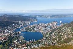 Panorama von Bergen, Norwegen Lizenzfreie Stockfotografie
